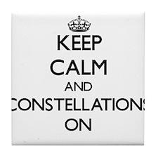 Keep Calm and Conspiring ON Tile Coaster