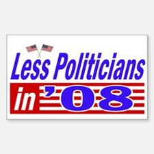 impeach all politicians Rectangle Decal
