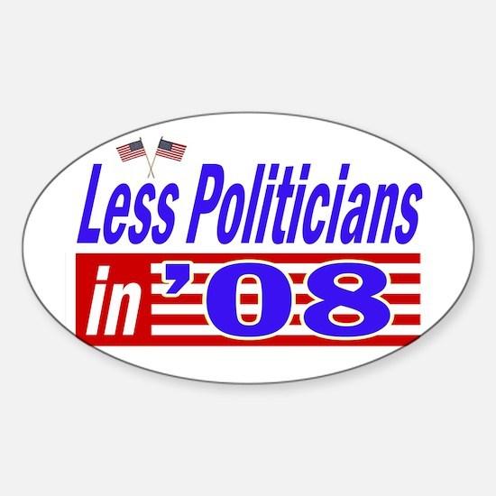 impeach all politicians Oval Decal