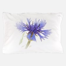 Blue Cornflower Pillow Case