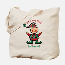 My First Christmas Elf Tote Bag