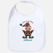 My First Christmas Elf Bib