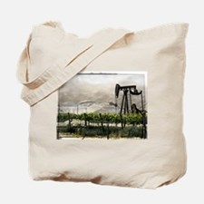 Pumpjack and Vineyard Tote Bag