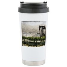Pumpjack and Vineyard Travel Mug