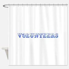 Volunteers-Max blue 400 Shower Curtain