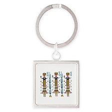 Cactus Women Keychains