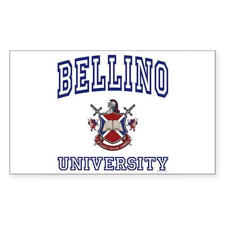 BELLINO University Rectangle Sticker
