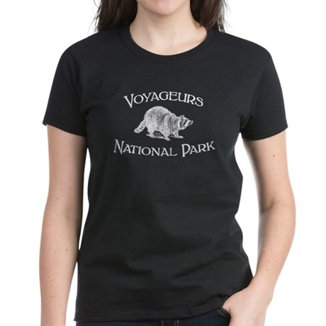 Voyageurs National Park (Racoon) Women's Dark T-Sh
