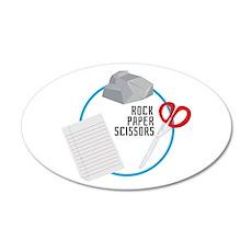 Rock Paper Scissors Wall Decal