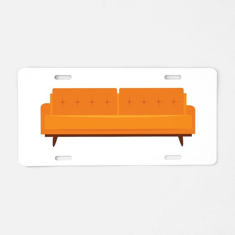 Sofa Aluminum License Plate