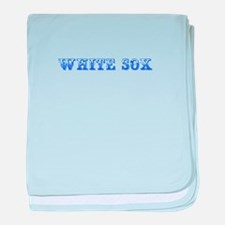white sox-Max blue 400 baby blanket