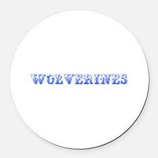 Wolverines-Max blue 400 Round Car Magnet