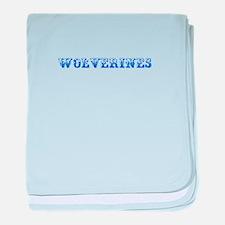 Wolverines-Max blue 400 baby blanket