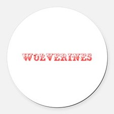 Wolverines-Max red 400 Round Car Magnet