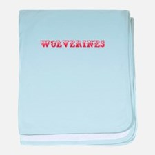 Wolverines-Max red 400 baby blanket