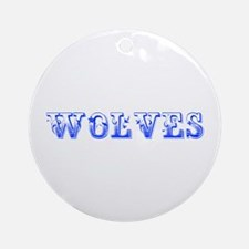 Wolves-Max blue 400 Ornament (Round)
