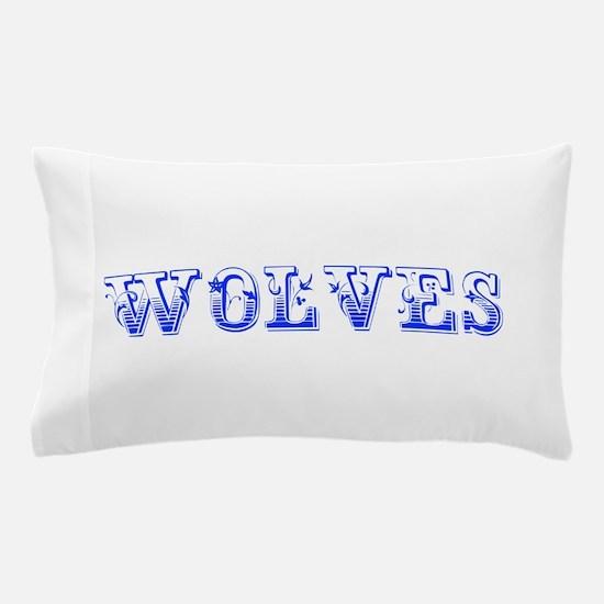 Wolves-Max blue 400 Pillow Case