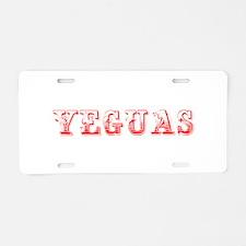 Yeguas-Max red 400 Aluminum License Plate