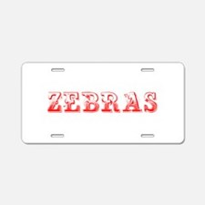 Zebras-Max red 400 Aluminum License Plate