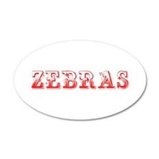 Zebras-Max red 400 Wall Decal