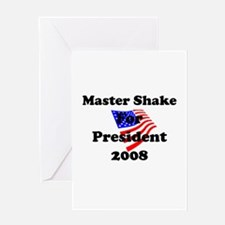 Vote for Master Shake Greeting Card