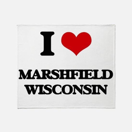 I love Marshfield Wisconsin Throw Blanket