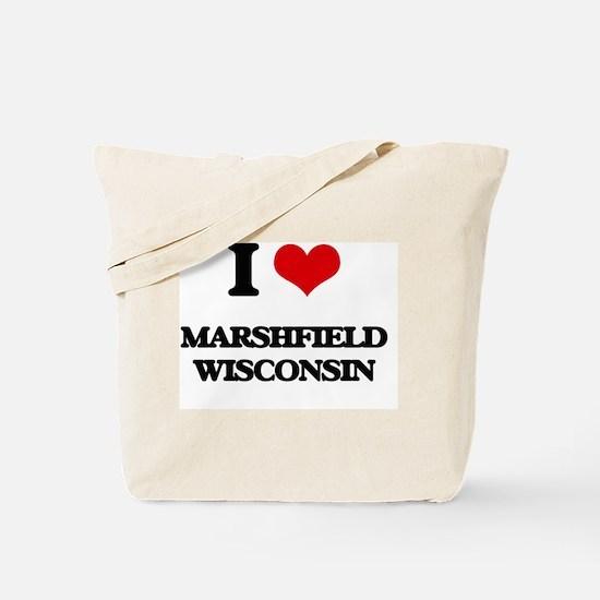 I love Marshfield Wisconsin Tote Bag