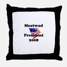 Vote For Meatwad Throw Pillow