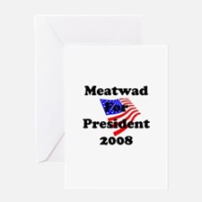 Vote For Meatwad Greeting Card