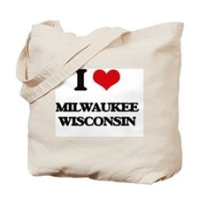 I love Milwaukee Wisconsin Tote Bag