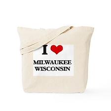 I love Milwaukee Wisconsin Tote Bag