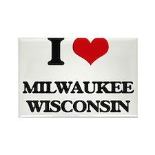 I love Milwaukee Wisconsin Magnets