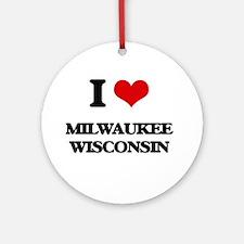 I love Milwaukee Wisconsin Ornament (Round)
