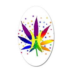 Rainbow Marijuana Pisces Wall Decal