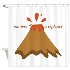 Love Is Explosive Shower Curtain