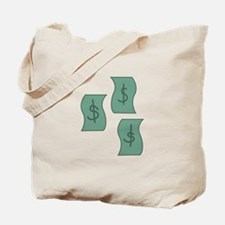 Cash Dollars Tote Bag