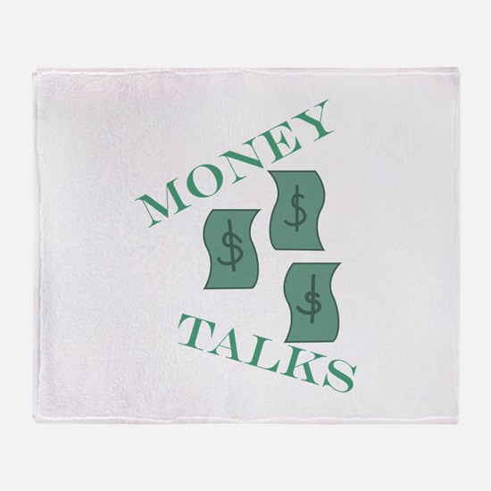 Money Talks Throw Blanket