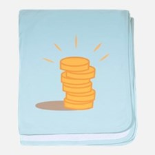 Gold Coins baby blanket