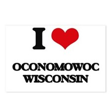 I love Oconomowoc Wiscons Postcards (Package of 8)
