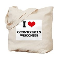 I love Oconto Falls Wisconsin Tote Bag