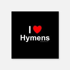"Hymens Square Sticker 3"" x 3"""