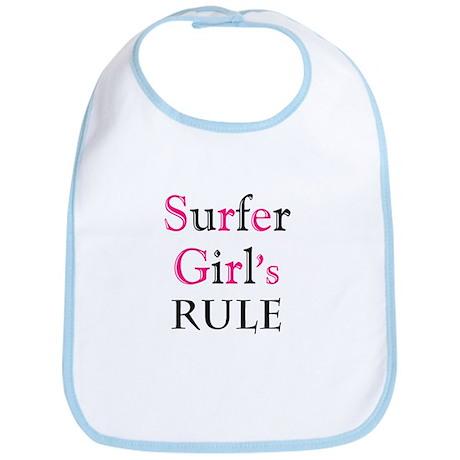 Surfer girl's Rule Bib