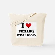 I love Phillips Wisconsin Tote Bag