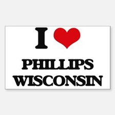 I love Phillips Wisconsin Decal