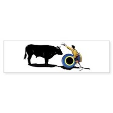 Clown and Bull-No-Text Bumper Sticker