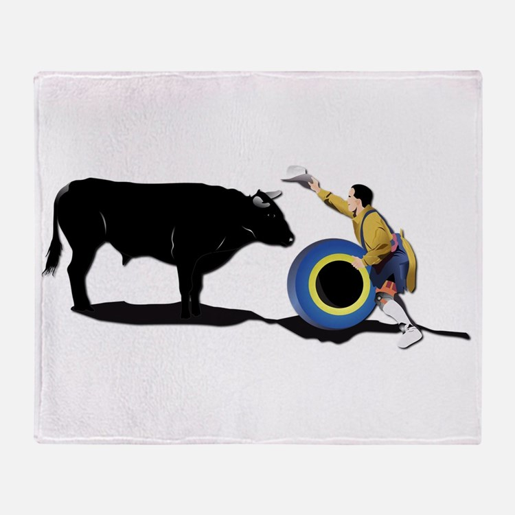 Clown and Bull-No-Text Throw Blanket