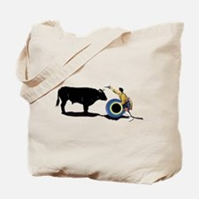 Clown and Bull-No-Text Tote Bag