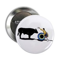 """Clown and Bull-No-Text 2.25"""" Button"""