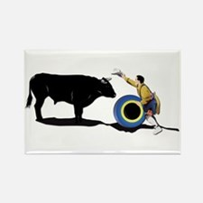 Clown and Bull-No-Text Rectangle Magnet