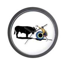 Clown and Bull-No-Text Wall Clock